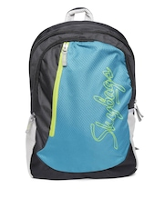 Skybags Unisex Blue & Black Textured Backpack