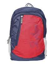 Skybags Unisex Navy & Red Backpack