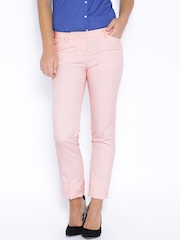 Arrow Woman Pink Slim Fit Trousers