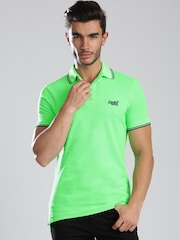 Superdry Neon Green Polo T-shirt