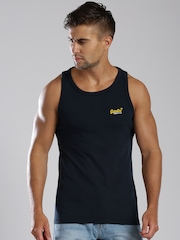 Superdry Orange Label Vintage Navy Sleeveless T-shirt