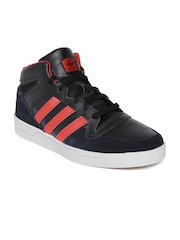 Adidas Men Black Locator Leather Skateboarding Shoes