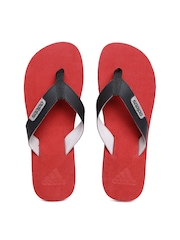 Adidas Men Black & Red Durok 2.0 Flip-Flops