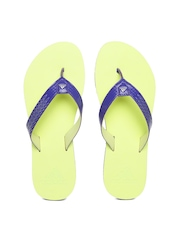 Adidas Women Purple & Neon Green Brizo 4.0 Flip-Flops