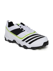 Adidas Men White All Rounder Power Cricket Shoes