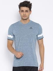 Adidas Blue KANOI PREM Polyester Grindle Effect Running T-shirt