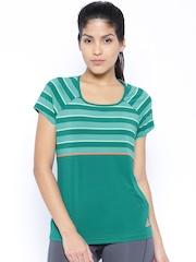 Adidas Green Striped Premium T-shirt