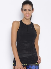 Adidas Black Panelled Cycling Tank Top