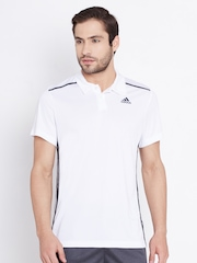 Adidas White Cool365 Polyester Polo T-shirt