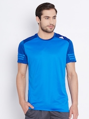 Adidas Blue RS SS Polyester Running T-shirt