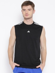 Adidas Black BASE 3S Tank Polyester Training T-shirt