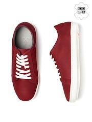 WROGN Men Red Suede Sneakers