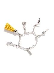 Pipa Bella Silver-Toned  Rhodium-Plated Charm Bracelet