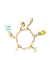 Pipa Bella 18K Gold-Plated Charm Bracelet