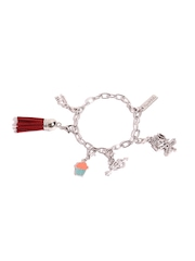 Pipa Bella Silver-Toned  Rhodium-Plated Charm Bracelet