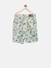 U.S. Polo Assn. Kids Boys Beige Printed Cargo Shorts