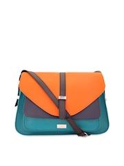 yelloe Turquiose Blue & Orange Sling Bag