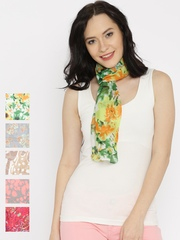 Style Quotient Pack of 5 Multicoloured Printed Scarves