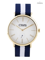 CHAPS DUNHAM Men White Dial Watch with Reversible Strap CHP5003