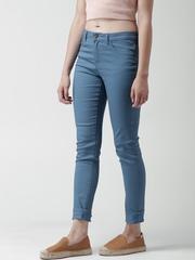 FOREVER 21 Teal Blue Skinny Jeans