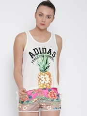 Adidas NEO White Pineapple Print Top
