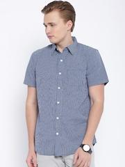Fox Blue Checked Casual Shirt