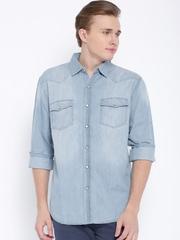 Fox Blue Denim Casual Shirt