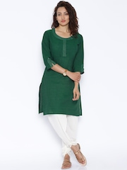 Rangmanch by Pantaloons Green Kurta