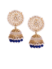 RANTNAVALI Gold-Plated Kudan Jhumka Earrings