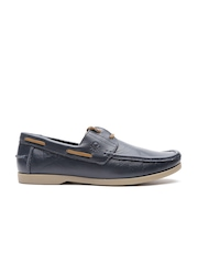 United Colors of Benetton Navy Leather Casual Shoes
