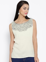 Shree Off-White Embroidered Top