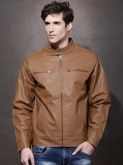 Roadster Brown Biker Jacket