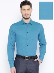 Arrow New York Blue Slim Fit Formal Shirt