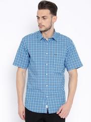 Arrow Sport Blue Checked Regular Sport Fit Casual Shirt