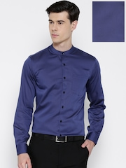 Arrow Navy Slim Fit Formal Shirt