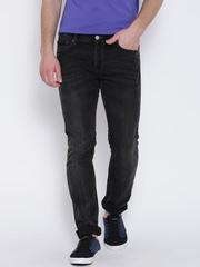 Locomotive Black Washed Slim Straight Jeans