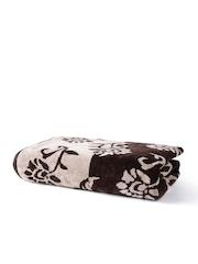 Turkish Bath Brown Floral Cotton Bath Towel