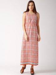 DressBerry Orange Printed Maxi Dress