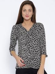 Park Avenue Woman Black Printed Shirt
