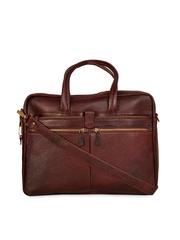 SCHARF Brown Genuine Leather Laptop Bag