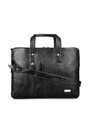 SCHARF Men Black Genuine Leather Laptop Bag