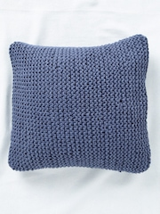 SWHF Navy Single Knitted 18'' x 18'' Square Cushion Cover