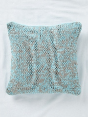 SWHF Turquoise Blue Single Knitted 18'' x 18'' Square Cushion Cover