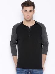HIGHLANDER Black Henley T-shirt