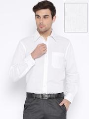 John Players White Linen Formal Shirt