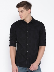 Being Human Clothing Black Slim Casual Shirt