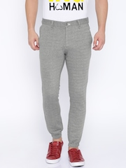 Being Human Clothing Grey Melange Jogger Trousers