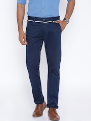 Being Human Clothing Navy Chino Trousers