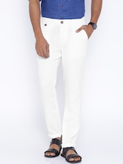 Being Human Clothing White Linen Trousers