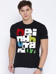 Being Human Clothing Black Printed T-shirt
